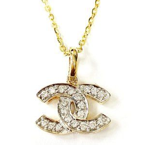 Chanel Auth Diamond Necklace